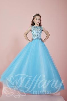 Tiffany Princess Little Girls Pageant Dress Style 13465