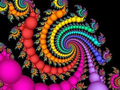 A Gift of Pearls, one of my rainbow fractals. Lots more at Fractallicious.com.