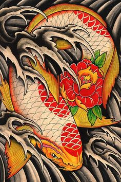 1549 best koi images on pinterest drawings fish tattoos for Koi pond tattoo