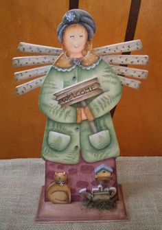 Anjo de Jardim - Projeto: Cris Nagy  Execução: Cris Marcelino