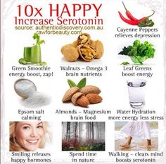10 Easy And Natural Ways To Increase Serotonin To Feel Happier food drinks happy life happiness positive emotions brain lifestyle health mental health healthy living healthy lifestyle self improvement self care self help emotional health Healthy Mind, Healthy Weight, Happy Healthy, Healthy Brain, Serotonin Foods, Serotonin Levels, Health And Nutrition, Health And Wellness, Health Tips