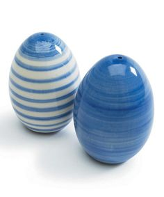 Pretty- possible wish list: Take a look at this Sagaform Blue & White Salt & Pepper Shakers by Sagaform on #zulily today!