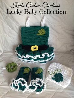 Lucky Baby St. Patrick's Day Newborn Baby by KailoCustomCreations, $55.00
