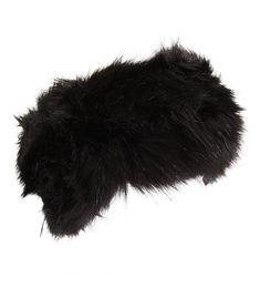72aef0f497e Womens Ladies Thermal Faux Fur Headband Black CP11Q5QSFIJ