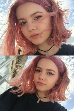 lovely pink hair colors to inspire your next dye job page 3 Dusty Pink Hair, Hair Color Pink, Pastel Pink Hair, Cut My Hair, Hair Cuts, Short Grunge Hair, Aesthetic Hair, Aesthetic Grunge, Aesthetic Vintage