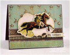 western card made with cricut
