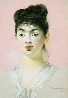 """Manet's pastel of Suzette Lemaire is at the Royal Academy/ """"The note next to the picture says it was made for the collector Charles Ephrussi."""" C. 1880. (http://www.telegraph.co.uk/culture/art/art-features/9892249/Manet-at-the-Royal-Academy-A-long-lost-world-flickers-into-life.html)"""