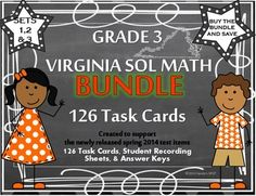 BUY THE BUNDLE AND SAVE!!!  This product is a bundle that includes sets 1, 2 and 3 of the new VIRGINIA SOL MATH Grade 3 TASK CARDS that were created to support the newly released test items from the VDOE!!  CLICK HERE TO SEE SET 1  CLICK HERE TO SEE SET 2  CLICK HERE TO SEE SET 3