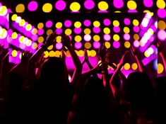Audience watching a rock show hands in the air rear view stage lights stock photo , Hands In The Air, Stage Lighting, Modern Graphic Design, Stock Photos, Awesome, Rear View, Lights, Rock, World