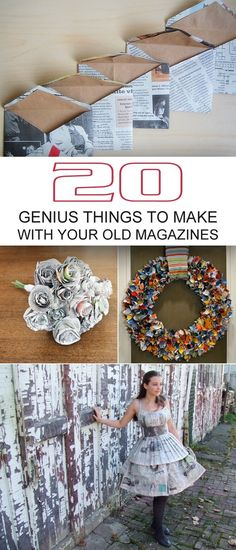 Here are 20 amazing repurposing DIY projects for all those magazines that are getting dusty