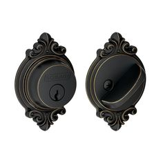 View the Schlage B60N-BRK Single Cylinder Grade 1 Deadbolt with Decorative Brookshire Rose at Handlesets.com.