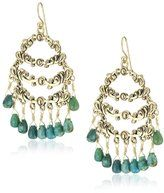 Chandelier Earrings with turquoise stones