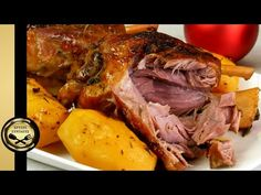 YouTube Greek Recipes, Pork Recipes, Healthy Recipes, Christmas Cooking, Avocado Salad, Party Desserts, Pork Roast, Food And Drink, Turkey