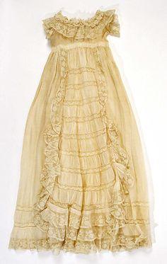 Christening ensemble Date: 1886 Culture: probably American Medium: cotton, silk