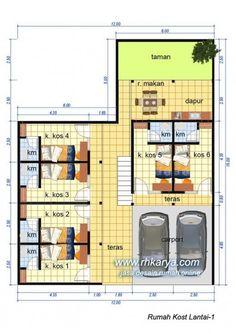 Desain Rumah Kost 2 Lantai Terbaru   Cat Rumah Minimalis Minimal House Design, Minimal Home, Boarding House, Dream Book, Hotel Motel, Dormitory, Planer, Minimalism, House Plans