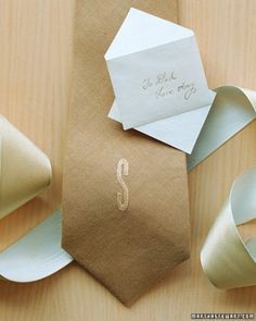 """See the """"Embroidered Linen Tie"""" in our Handmade Father's Day Gifts gallery"""