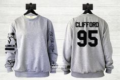 Michael Clifford Tattoos Sweater Sweatshirt Crew Neck