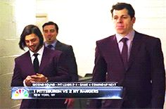 Geno, Tanger...  What's up with the matching purple suits, guys?  And hey MAF, I see you back there being your awesome self.