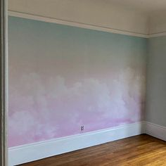 Hand Painted Abstract Pink Clouds Wallpaper Wall Mural, Pink Clouds with Blue Sky Wall Mural, Creative Cloudy Wall Mural Wall Decor Tree Wallpaper For Walls, Pink Clouds Wallpaper, Grey Floral Wallpaper, Garden Wallpaper, Green Leaf Wallpaper, Scenic Wallpaper, Bird Wallpaper, Painting Wallpaper, Room Wallpaper