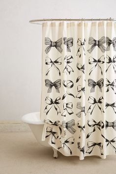 Bow shower curtain.