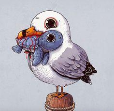 """Adorable Circle of Life"" les animaux trop cute d'Alex Solis Art And Illustration, Illustration Mignonne, Art Illustrations, Cartoon Pencil Drawing, Cartoon Drawings Of Animals, Cute Animal Drawings, Drawing Animals, Adorable Drawings, Pencil Drawings"