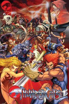 Plakat do pokoju na ściane anime Thundercats Character Montage Thundercats Characters, He Man Thundercats, Thundercats 2011, Thundercats Cartoon, Best 80s Cartoons, Old School Cartoons, Classic Cartoons, Comic Books Art, Comic Art