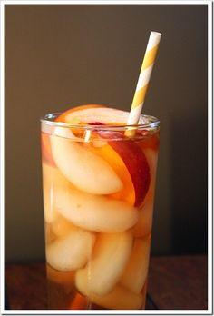 Peach ice tea. Yummy