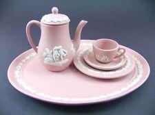Pink jasperware set