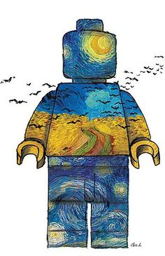 Lego Van, Lego Decorations, Famous Artwork, Lego Photography, Pretty Wallpapers, Cool Lego, Van Gogh, Legos, Art History