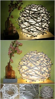 Diy how to make a birds nest lamp shade out of newspaper nest if you need to roll out some improvement at your home then we will encourage you to make a diy lamp ideas checkout 20 amazing diy lamp ideas for your mozeypictures Image collections