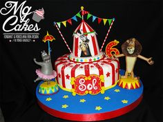 MADAGASCAR CIRCO Boy Birthday Parties, Birthday Cake, Madagascar Party, Party Cakes, Fondant, Chevy, Virginia, Desserts, Cakes