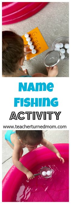 Summer is in full swing and it's time to have fun with water! This name fishing activity is a great way to get outside, learn, and stay cool!