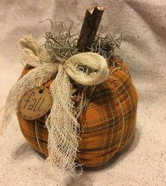 Items similar to Fall Harvest Pumpkin - Halloween Pumpkin - Thanksgiving Decoration - Autumn Decoration - Homespun Pumpkin - Farmhouse Style - Primitive on Etsy Fabric Pumpkins, Fall Pumpkins, Halloween Pumpkins, Fall Halloween, Halloween Crafts, Sweater Pumpkins, Fall Crafts For Kids, Thanksgiving Crafts, Thanksgiving Decorations
