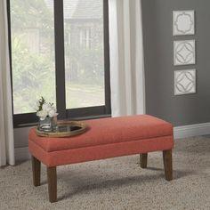 HomePop Red Linen Nailhead Trim Storage Bench By HomePop   Nailhead Trim  And Storage Benches