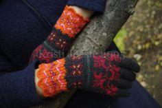 Kristi käsitöömõtted: Muhu kindad/Muhu gloves Knit Mittens, Knitted Gloves, Fingerless Gloves, Wrist Warmers, Hand Warmers, How To Start Knitting, Warm And Cozy, Needlepoint, Hand Knitting