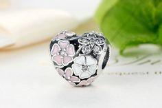 Poetic Blooms Bead Charm - Sterling Silver 925
