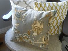 Iman Home fabric throw pillow cover cotton by PetajaFiberWorks, $29.99