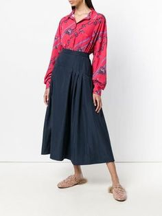 Max Mara Studio gathered A-line midi skirt Skater Skirt, Midi Skirt, Max Mara, Flare Skirt, Fashion Advice, A Line Skirts, Cool Style, Dress Up, Studio