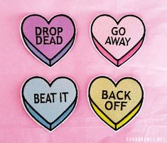 NO CONVERSATION Heart patches