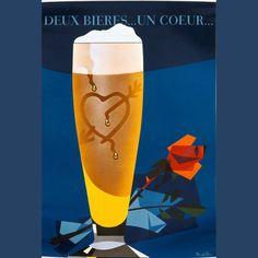 Deux bieres...un coeur...