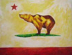 Brian Evjenth, California Bear Flag Painting | Bear Flag Museum