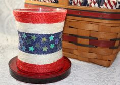 I feel the honor today! RED WHITE AND BUE!                         HPT by Sherry Belbot on Etsy