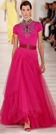 i love pink and red together and i love love love a tulle skirt with a belt and a tee.