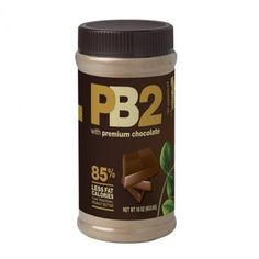 6.5 oz. Use it in cake frosting! OR a healthy cake frosting smoothie. Roasted peanuts, cocoa powder, vegan sugar, and salt Chocolate PB2 is mixed with water to create a traditional chocolate and peanu