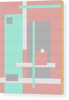 Pastel Geometric Abstract Wood Print by Jenny Rainbow. All wood prints are professionally printed, packaged, and shipped within 3 - 4 business days and delivered ready-to-hang on your wall. Choose from multiple sizes and mounting options. Shabby Chic Style, Got Print, New Wave, Fine Art America, Photographic Prints, Pastel, Kids Rugs, Rainbow, Texture
