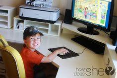 Preschool at Home! Great idea! #howdoesshe #abcmouse #preschool