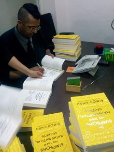 Simon Singh signing books!
