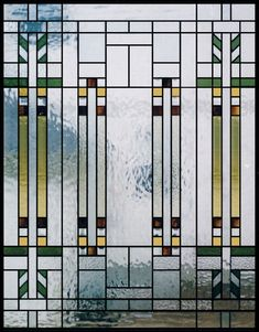 Frank Lloyd Wright Stained Glass Window Panels