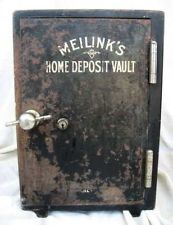 MEILINK SMALL SALESMAN SAMPLE IRON SAFE VINTAGE 1900's