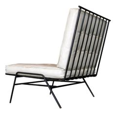 Paul McCobb, Attribution Wrought Iron Lounge Chair c.1950's | From a unique collection of antique and modern lounge chairs at http://www.1stdibs.com/furniture/seating/lounge-chairs/